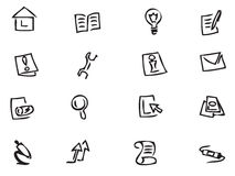 Web Icons. Icons easy to resize or change color Stock Photo