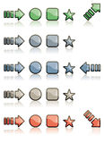 Web icons. Arrows and web icons isolated on white Royalty Free Stock Image