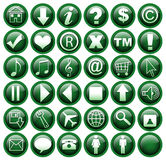 Web icons. 36 web buttons on the isolated background Royalty Free Stock Photos