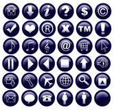 Web icons. 36 web buttons on the isolated background Stock Images
