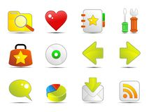 Web icons. Various web icon - isolated over white background Royalty Free Stock Photos