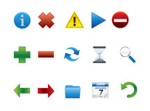 Web Icons. Icons that can be used for software and applications offline and in the Internet or Web Stock Photos