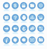 Web Icons. 20 Web icons for web graphics usage royalty free illustration