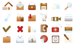Web icons. 24 simple web icons for web usage Stock Image