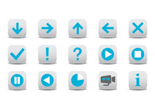 Web icons. Vector illustration of different web icons Royalty Free Stock Images