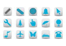 Web icons. Vector illustration of different  Website and Internet icons Royalty Free Stock Photos