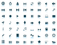 Web icons. Big collection of different icons for using in web design Stock Image