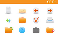 Web icons. Vector illustration � set of elegant simple icons for common computer functions. Set-1