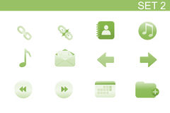 Web icons. Vector illustration � set of elegant simple icons for common computer functions. Set-2 Stock Photography