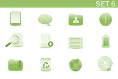 Web icons. Vector illustration � set of elegant simple icons for common computer and media devices functions. Set-6 Stock Photography