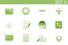 Web icons. Vector illustration � set of elegant simple icons for common computer and media devices functions. Set-9 Stock Photos