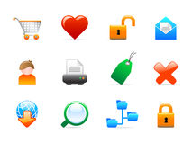Web icons. Set of 12 colorful web icons Stock Photos