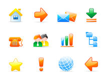 Web icons. Set of 12 colorful web icons Royalty Free Stock Photography