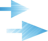 Web icons. Blue web icons with Arrows Royalty Free Stock Image