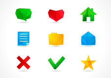 Set of web network communication or interface vector icons. Stock Photos