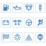 Web icons : Automobile I. A set of web icons with light reflection Royalty Free Stock Photo