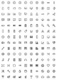 140 Web Icons Royalty Free Stock Photos
