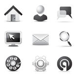 Web icons | B&W series Stock Photo