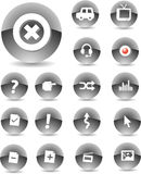 Web Icons Black. Web Icons 04. Crystallized Black color Stock Images