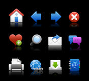 Web Icons // Black Background Stock Photo