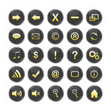 Web Icons, black, DropShadows Stock Images