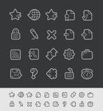 Web Icons // Black Line Series Stock Photos