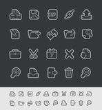 Web Icons // Black Line Series. Vector icons for your web or printing projects -- EPS 10+ Contain Transparencies Stock Image