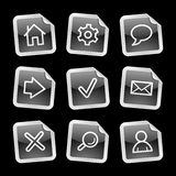 Web icons, black sticker Stock Photos