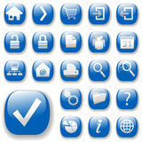Web Icons, Blue, DropShadows Stock Image