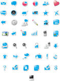 Web icons - blue edition. A modern set of web icons Royalty Free Stock Photos