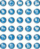 Web Icons Blue Royalty Free Stock Photo