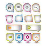 Web icons boxes Stock Images