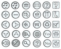 Web Icons / Buttons Royalty Free Stock Image