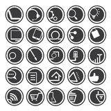 Web icons, buttons Royalty Free Stock Image