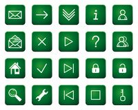 Web icons and buttons Stock Photo