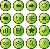Web icons, buttons Stock Photos