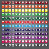 Web icons buttons collection. A collection of standard icon buttons in many different colors for web related uses Royalty Free Stock Photos