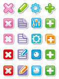 Web icons or buttons Stock Image