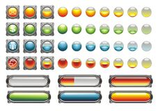 WEB ICONS, BUTTONS, LOAD Stock Image