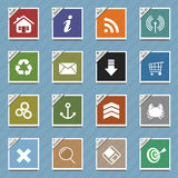Web icons , buttons sample Stock Images