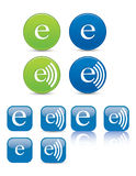 Web icons. Or buttons in vector format that represent electronic audio Royalty Free Stock Photo