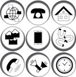 Web icons in the circle stock illustration