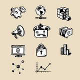 Web icons collection Royalty Free Stock Photography
