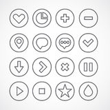 Web icons collection. Simple clean shapes Stock Photos