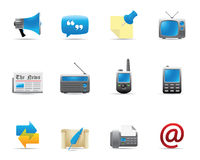 Web Icons - Communication 2 Royalty Free Stock Photos
