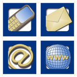 Web icons - contact info Stock Photo