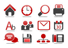 Web Icons - dat's series #1. Web and internet icons over isolated white vector illustration