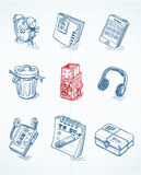 Web icons. In doodle style Royalty Free Stock Photos