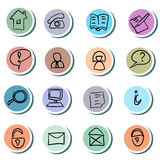 Web Icons doodles Set Royalty Free Stock Photos