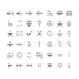Web Icons, , DropShadows Stock Images